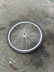 バイク(自転車)タイヤのパンク修理